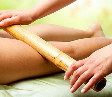 Masaje reductor con bambu